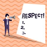 词文字文本尊敬 感觉的企业概念对某人或某事的深刻的倾慕欣赏 库存例证