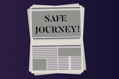 词文字文本平安的旅行 仔细保佑的出价的告别推进用途安全带皮带企业概念 向量例证