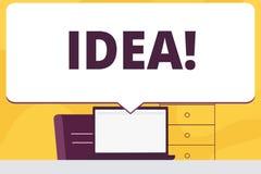 词文字文本想法 创造性的创新想法的想象力设计计划的解答空白的企业概念 向量例证