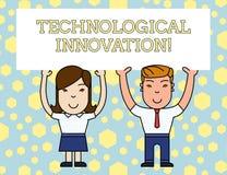 词文字文本技术革新 新的发明的企业概念从技术知识产品两 皇族释放例证