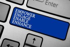 词文字文本授权允诺使能提高 援权领导刺激订婚灰色的企业概念 库存照片