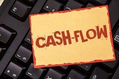 词文字文本收入现款额 金钱的真正运动的企业概念由公司在St写的财务处统计的 库存图片