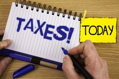 词文字文本收税诱导电话 金钱的企业概念由标志写的它的支持的一个政府要求了我 免版税库存照片