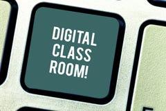 词文字文本数字教室 的企业概念与辅导员的学生学会和互作用 库存图片