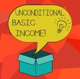 词文字文本无条件的基本的收入 有偿的收入的企业概念没有要求工作想法象 皇族释放例证