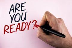 词文字文本是您准备问题 Prepare的企业概念很好面对人holdi写的即将来临的企业变动 库存图片