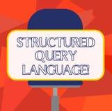 词文字文本构造查询语言 计算机语言的企业概念的长方形关系数据库的空白 向量例证