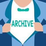 词文字文本档案 汇集历史文件的企业概念记录提供信息 向量例证
