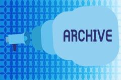 词文字文本档案 汇集历史文件的企业概念记录提供信息 库存例证