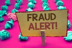 词文字文本欺骗戒备诱导电话 被怀疑的安全消息欺骗活动的企业概念 库存照片