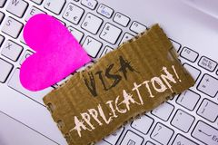 词文字文本签证申请诱导电话 板料的企业概念能提供在泪花写的您的基本信息 图库摄影