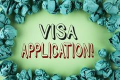 词文字文本签证申请诱导电话 板料的企业概念能提供在plai写的您的基本信息 库存照片