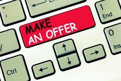 词文字文本给予一个条件 提案的企业概念带来志愿提议赠送出价格兰特 免版税库存图片