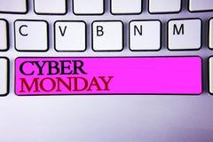 词文字文本网络星期一 特殊的拍卖的企业概念在黑星期五网上购物电子商务以后 免版税图库摄影