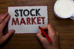 词文字文本股市 股票和证券被换或举行ma的exhange人的特殊市场的企业概念 图库摄影