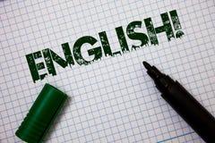 词文字文本英国诱导电话 与英国相关的企业概念它的人民或他们的语言想法消息 库存照片