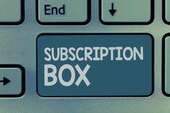 词文字文本订阅箱子 按钮的企业概念,如果您点击了将得到新闻或录影关于站点 库存照片