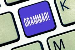 词文字文本语法 整个系统的企业语言概念和结构或语言一般 库存照片