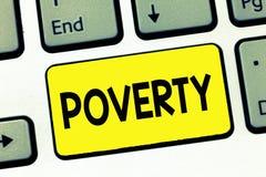词文字文本贫穷 状态的企业概念是极端在需要的可怜的无家可归者足够的金钱 免版税图库摄影