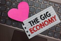 词文字文本违规记录经济 短期合同市场的企业概念做自由职业者工作临时在岸上的计算机keyb 库存照片