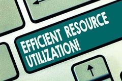 词文字文本高效率的资源运用 最大化的有效率和生产力键盘键企业概念 图库摄影