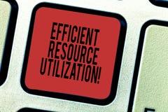 词文字文本高效率的资源运用 最大化的有效率和生产力键盘键企业概念 向量例证