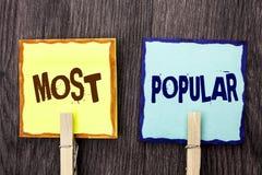词最普遍文字的文本 顶面规定值畅销书喜爱的产品或艺术家的第1企业概念在St写的等级 库存图片