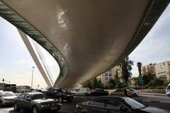 词条到耶路撒冷里在桥梁下 免版税库存图片