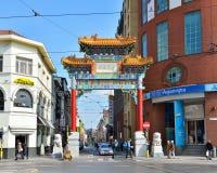 词条在唐人街在安特卫普 免版税库存照片