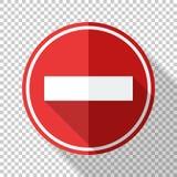 词条在透明背景的平的样式不交通标志 向量例证