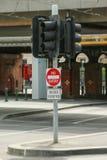 词条,公共汽车没有除去签到碎片街道,墨尔本 库存照片