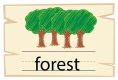 词森林的Wordcard模板 皇族释放例证