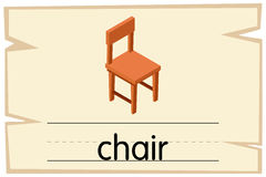 词椅子的Wordcard模板 皇族释放例证