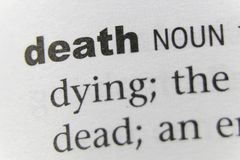 词死亡关闭 库存图片