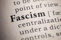 词法西斯主义的定义 库存图片