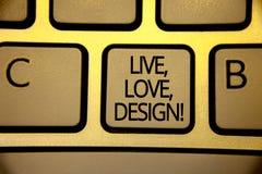 词活文字的文本,爱,设计诱导电话 Exist柔软的企业概念创造激情欲望键盘褐色 库存图片