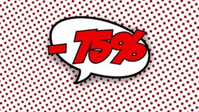 -75% -词演说序幕可笑的样式动画