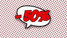 -50% -词演说序幕可笑的样式动画