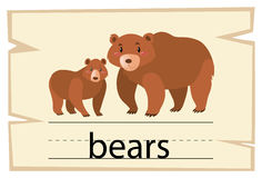 词熊的Wordcard模板 库存例证