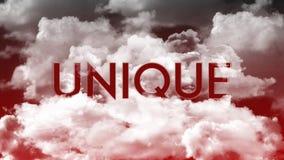 词独特在云彩,红色天空颜色 库存例证