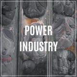 词电力工业 行业背景 库存照片