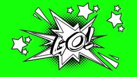 词的可笑的动画去飞行在泡影外面 绿色屏幕 向量例证