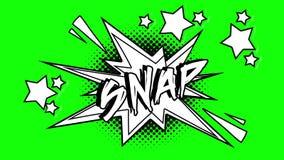 词短冷期的可笑的动画飞行在泡影外面 绿色屏幕 皇族释放例证