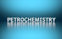 词石油化学ob蓝色背景 向量例证