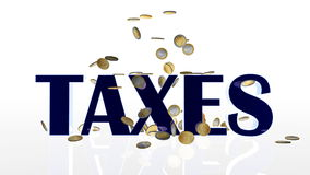 词税落和被击中的EUR硬币,阿尔法,储蓄英尺长度 向量例证