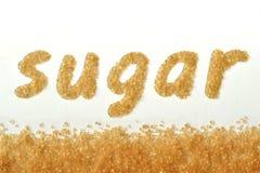 词糖写用红糖 免版税库存图片