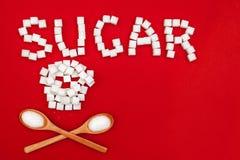 词糖和糖头骨 免版税库存图片