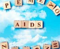 词艾滋病 免版税库存图片