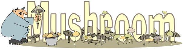 词蘑菇 免版税图库摄影