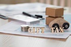 词赠与税组成由木信件 免版税库存图片